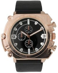 Olivia Pratt - Men's Metal Leather Decorative Chronograph Watch - Lyst