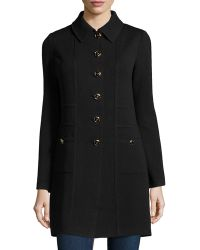 St. John Welt-Pocket Button-Front Jacket - Lyst