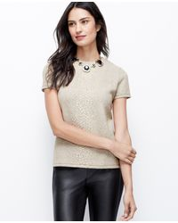 Ann Taylor Exotic Embossed Top - Lyst