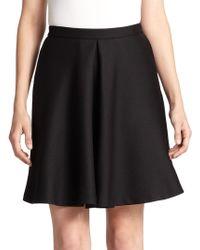 Giambattista Valli Inverted Pleat Wool & Silk Skirt - Lyst