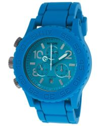 Nixon Men'S Rubber 42-20 Chronograph Blue Rubber Strap And Dial - Lyst