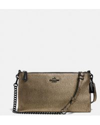 Coach Kylie Crossbody in Metallic Leather - Lyst