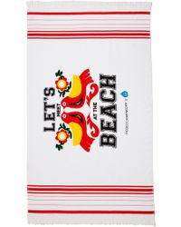 Rebecca Minkoff Rm X Drink Up Lets Meet At The Beach Towel - Lyst