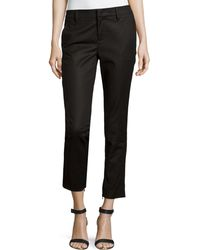 Vince Cropped Ankle-Zip Trousers - Lyst