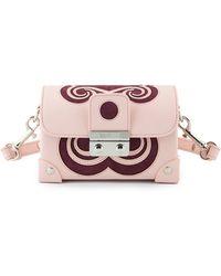 Holly Fulton - X Petek 1855 Pink & Burgundy Small Swirl Trunk Bag - Lyst
