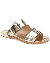 Rachel Zoe 'Parla' Leather Slide Sandal - Lyst