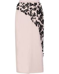 Bibhu Mohapatra - Embroidered Pencil Skirt - Lyst