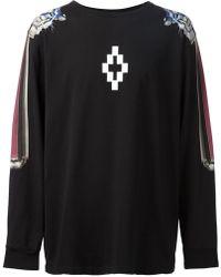 Marcelo Burlon Printed Sleeves Sweatshirt - Lyst