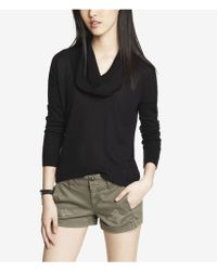 Express Cowl Neck Hilo Hem Sweater - Lyst