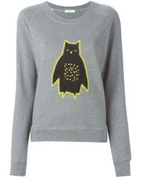 Paul by Paul Smith Owl Appliqué Sweatshirt - Gray