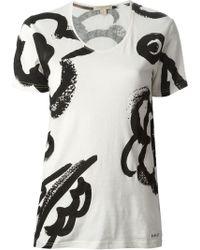 Burberry Brit Floral Print T-Shirt - Lyst