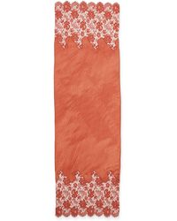 Valentino Plisse Roses Cashmere Shawl - Lyst