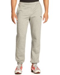 Puma Gray Banded Pant - Lyst