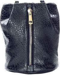 Pixie Market Black Crossbody Bucket Bag - Lyst