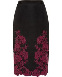 Ted Baker | Valari Embroidered Mesh Lace Skirt | Lyst