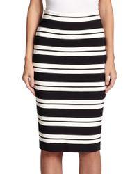 St. John Striped Pencil Skirt - Lyst