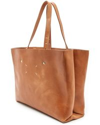 Maison Martin Margiela Leather Tote Brown - Lyst