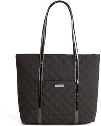 Vera Bradley Vera Trimmed Quilted Small Tote - Black