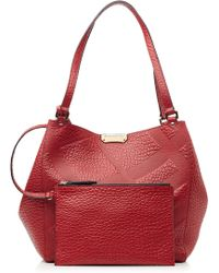 Burberry Textured Leather Canterbury Tote - Lyst