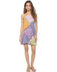 MINKPINK Sunset Patchwork Halter Dress - Multi multicolor - Lyst