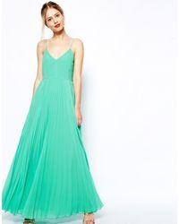 Asos Cami Pleated Maxi Dress - Lyst