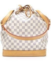 Louis Vuitton Preowned Damier Azur Noe Bag - Lyst