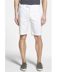 Michael Kors Tailored Cotton & Linen Chino Shorts - Lyst