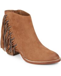 DV by Dolce Vita | Juneau Chain & Leather Fringe Ankle Boots | Lyst