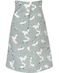 Jil Sander 34 Length Skirt - Lyst
