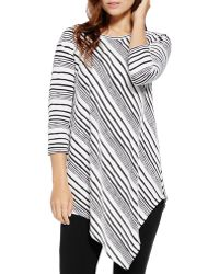 Two By Vince Camuto - Asymmetric Striped Top - Lyst