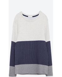 Zara | Tri-colour Sweatshirt | Lyst