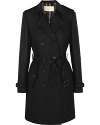 Burberry Brit - Cotton-blend Gabardine Trench Coat - Lyst