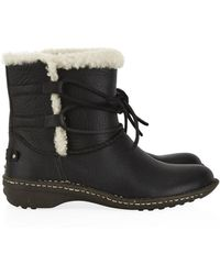 Ugg Rianne Leather Ankle Boot - Lyst