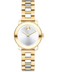 Movado Bold Two-Tone Ip Stainless Steel Bracelet Watch/25Mm - Lyst