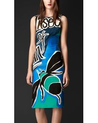 Burberry Brit Insects Of Britain Appliqué Suede Dress - Lyst