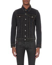 Diesel J-Els Studded Denim Jacket - For Men black - Lyst