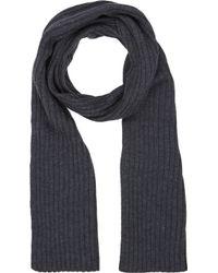 Barneys New York Gray Rib-knit Scarf - Lyst