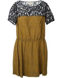 MICHAEL Michael Kors Lace Panel Dress - Lyst