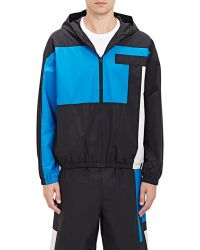 T By Alexander Wang - Colorblocked Hooded Track Jacket - Lyst