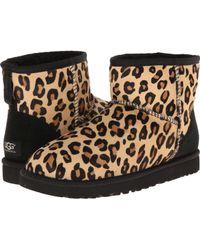 Ugg Classic Mini Calf Hair Leopard - Lyst