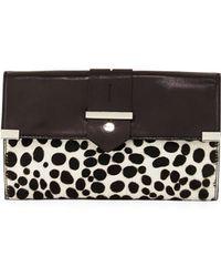 Milly Dalmatian-Print Clutch Bag - Lyst