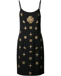 Alberta Ferretti Jeweled Dress - Lyst
