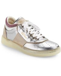 Alexander McQueen x Puma Joust Lo Iii Metallic Leather Sneakers - Lyst