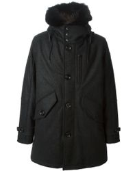 Moncler Fur Lined Padded Parka - Lyst