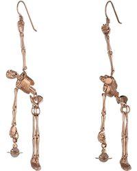 Vivienne Westwood Skeleton Earrings - Lyst