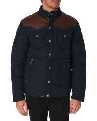 Penfield Stapleton Navy Down Jacket - Lyst
