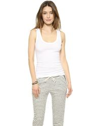 Enza Costa Bold Ribbed Tank - White - Lyst