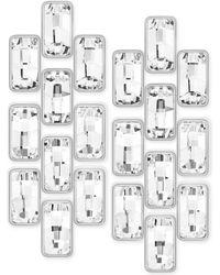 Swarovski Rhodium-plated Crystal Link Clip Earrings - Lyst