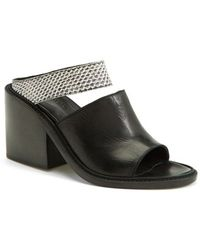 Helmut Lang Women'S Leather & Genuine Snakeskin Mule - Lyst