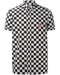 Love Moschino Check Button Down Shirt - Lyst